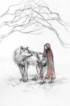 Inktober 21: Little Red Riding Hood