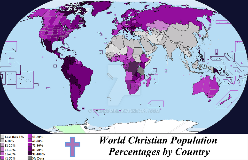 World Christian Population By Country By IoriKomei On DeviantArt - Christian population around the world