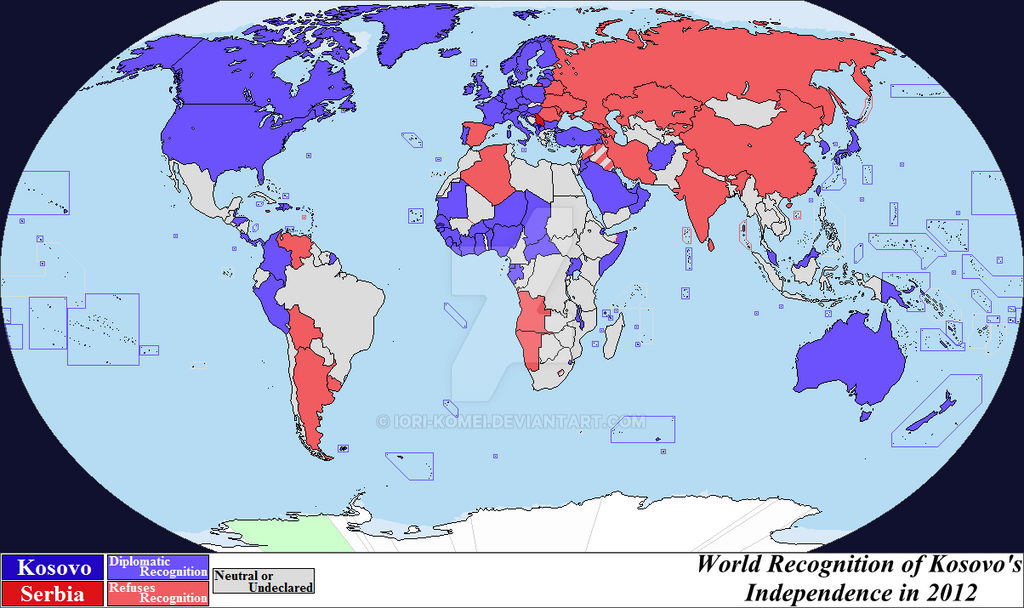 Kosovo Map In World. World Recognition of Kosovo in 2012 by Iori Komei  on DeviantArt