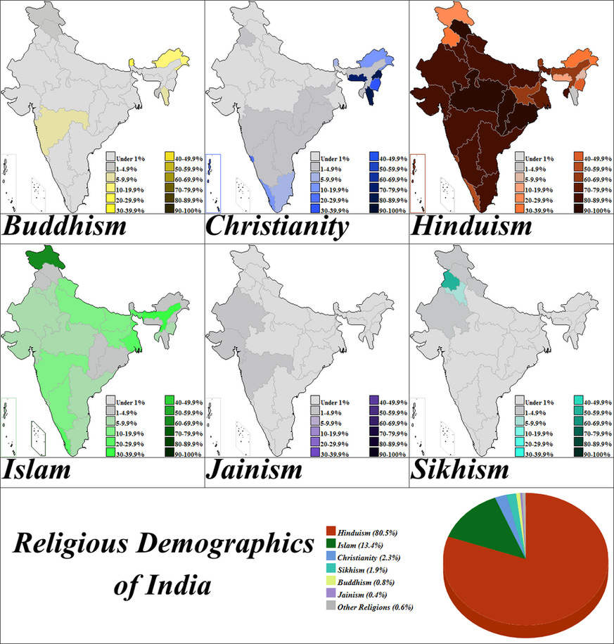 Religious Demographics Of India By Iori Komei ...