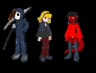 Grim Tales AU - Grim Jr., Minnie, and Mimi Final