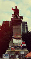 Occupy Montreal: Statue II