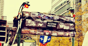 Occupy Montreal: Banner
