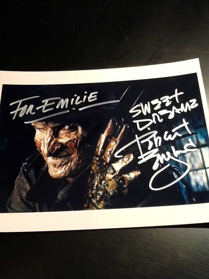 Robert Englund autograph by Deadlydollies13