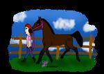 Juliana | Leading a Horse by SkyWolfSpirit
