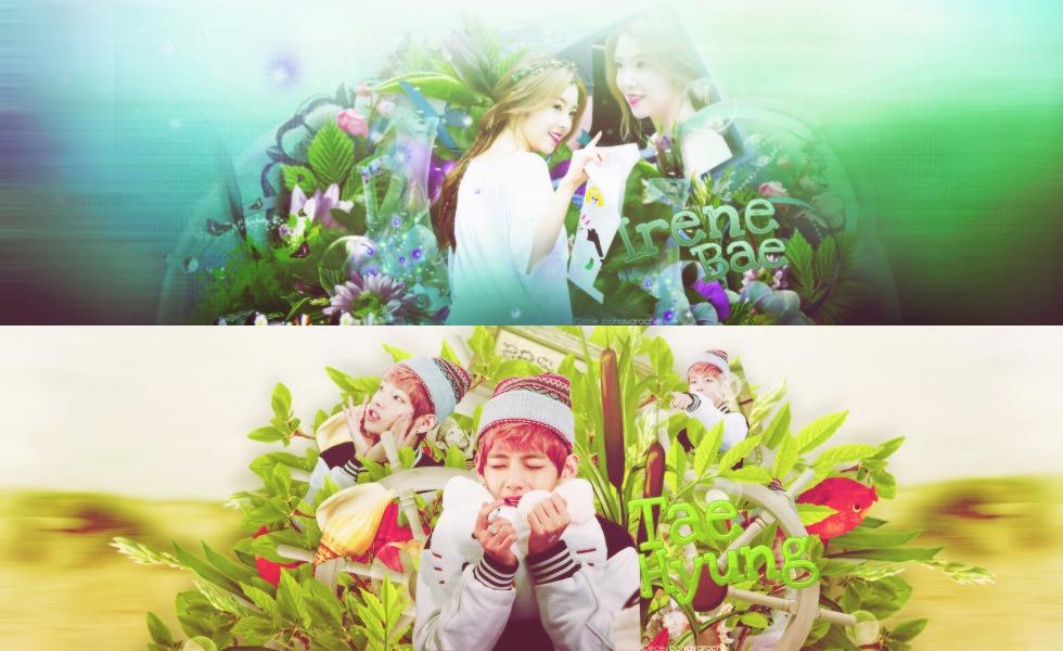 [050815]Cover Scrapbook V-BTS and Irene-Red Velvet by Byunryexol