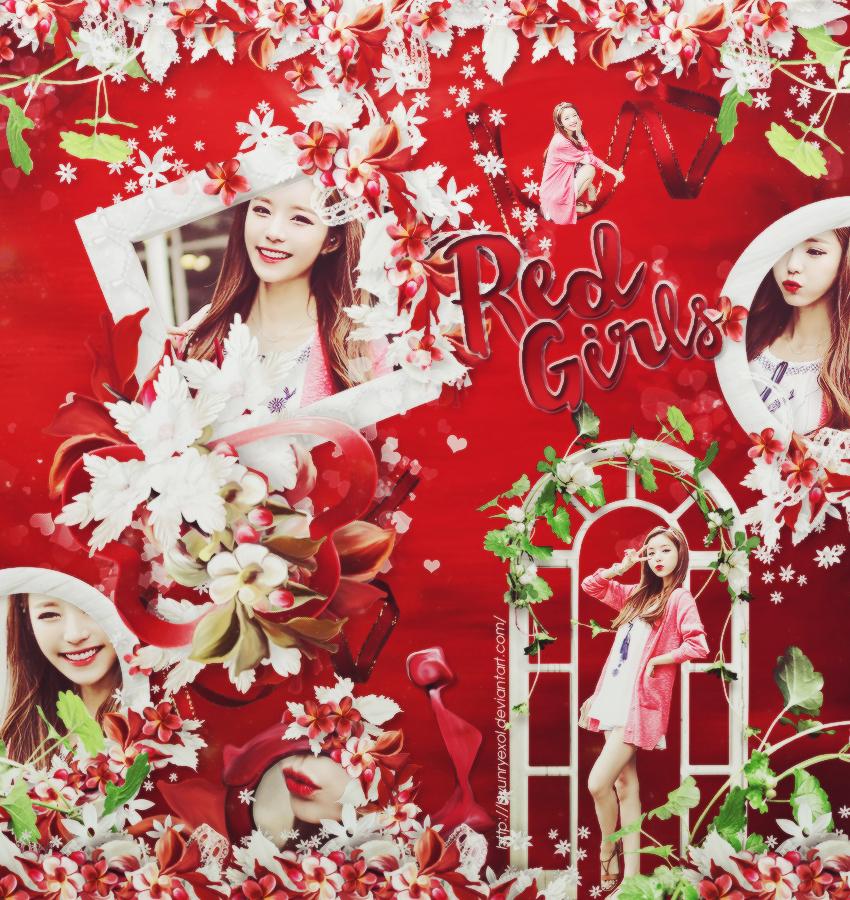 [010915] Red Girl wallpaper by Byunryexol