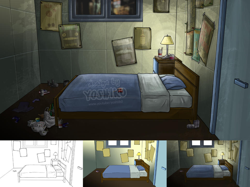 Bedroom background wallpaper by yoshik0 animation on for Scenery wallpaper for bedroom