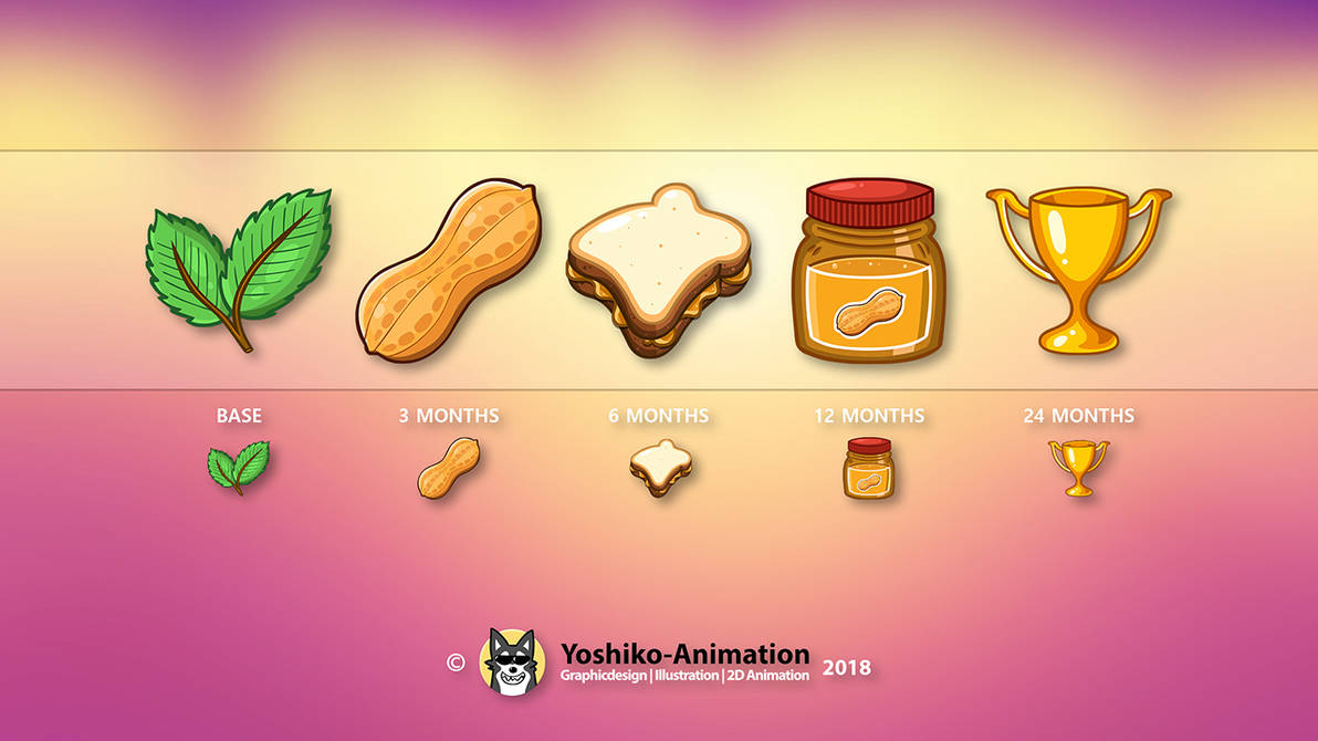 Twitch Badge Design Media Peanut by Yoshiko-Animation on