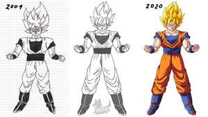 DragonballZ SSJ Goku Fanart #drawitagain