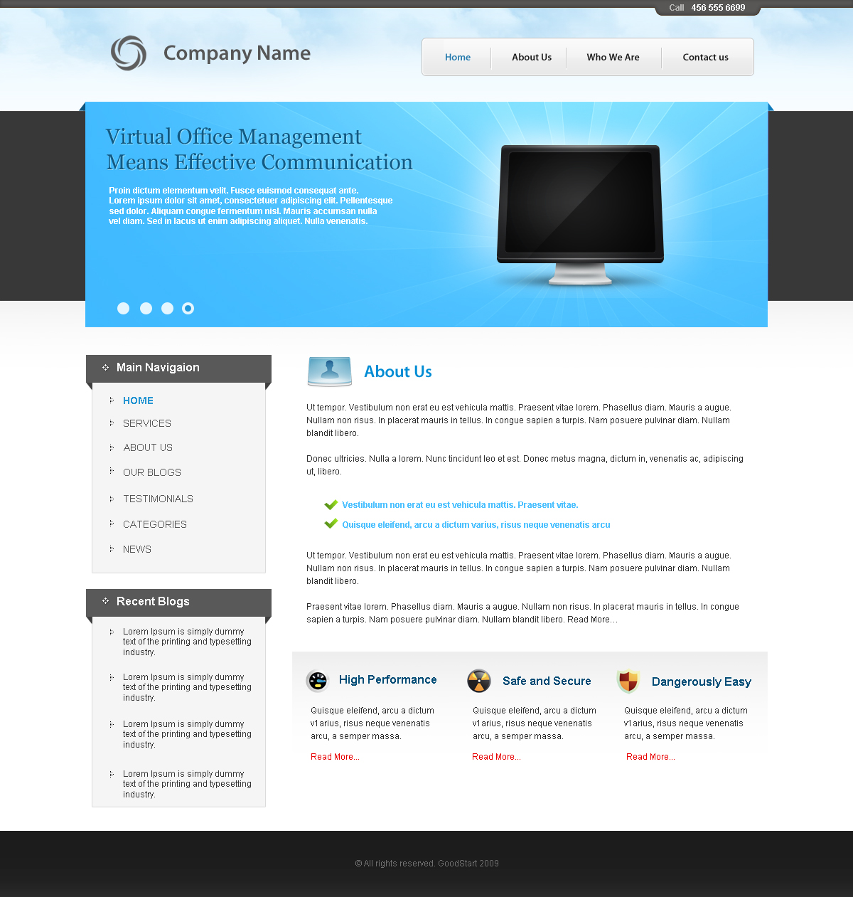 CMS - business theme by prkdeviant