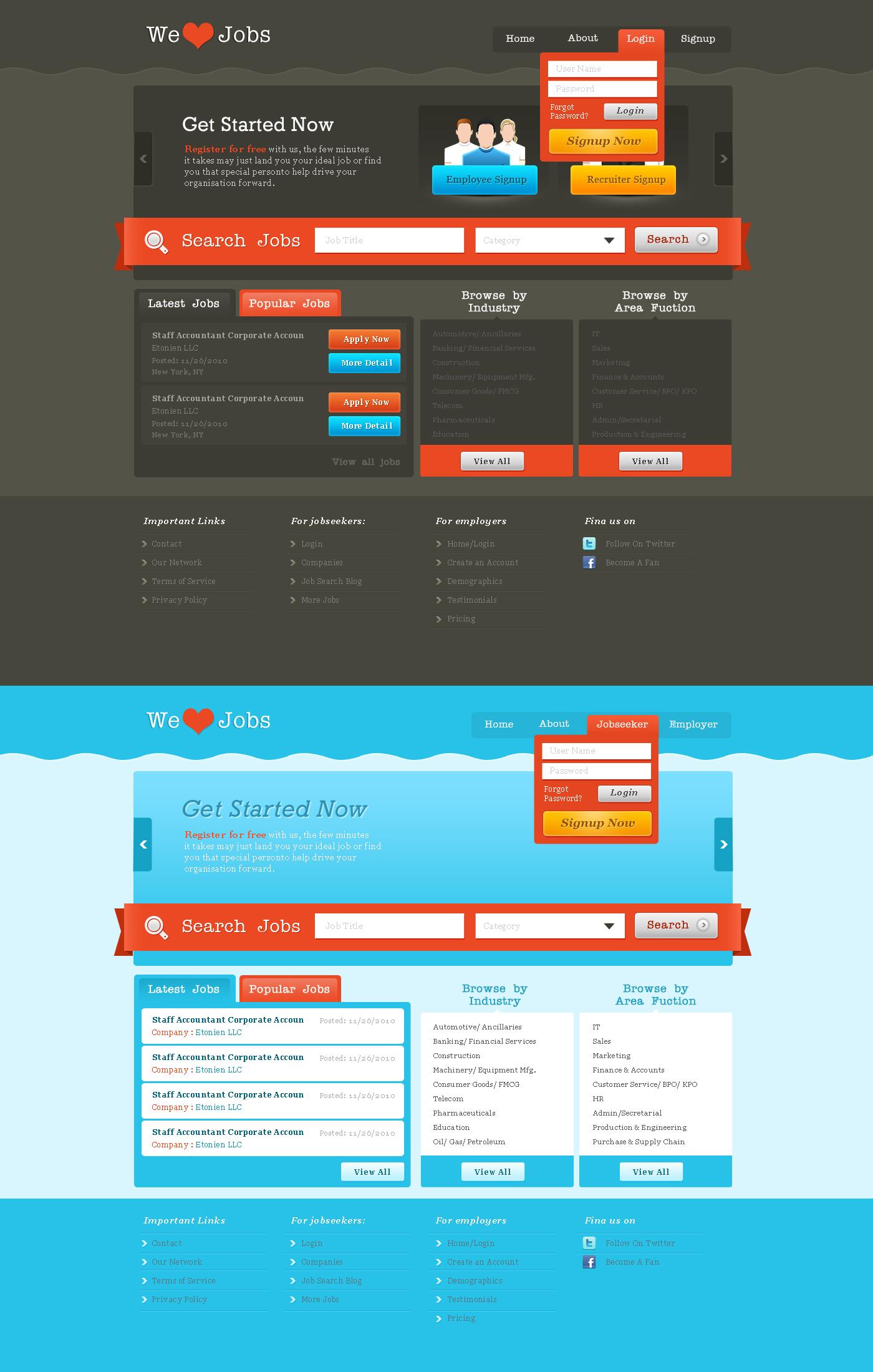 Job Portal - wordpress