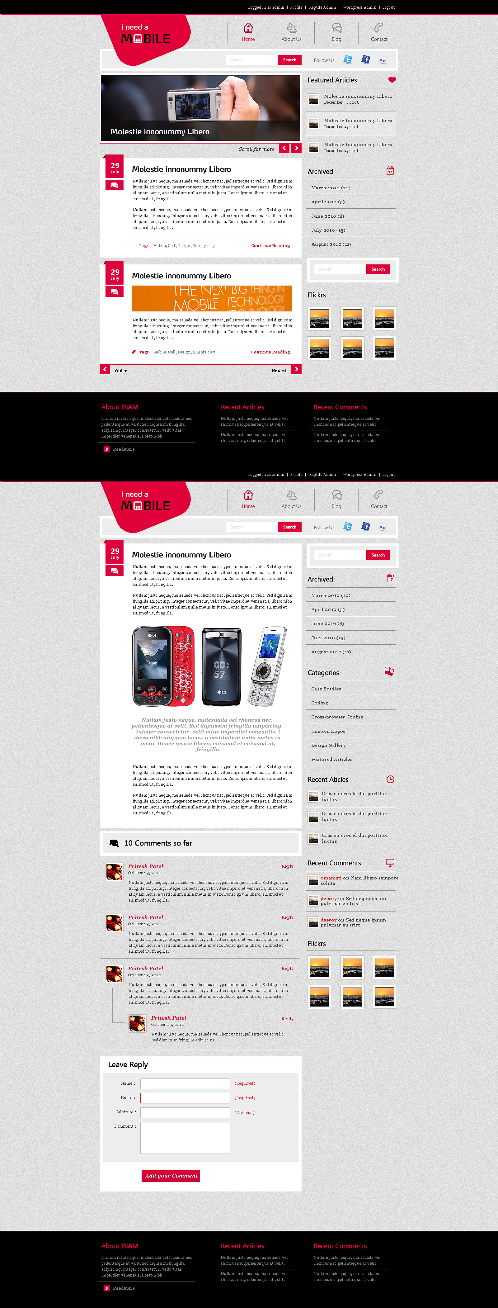 INAM wordpress theme