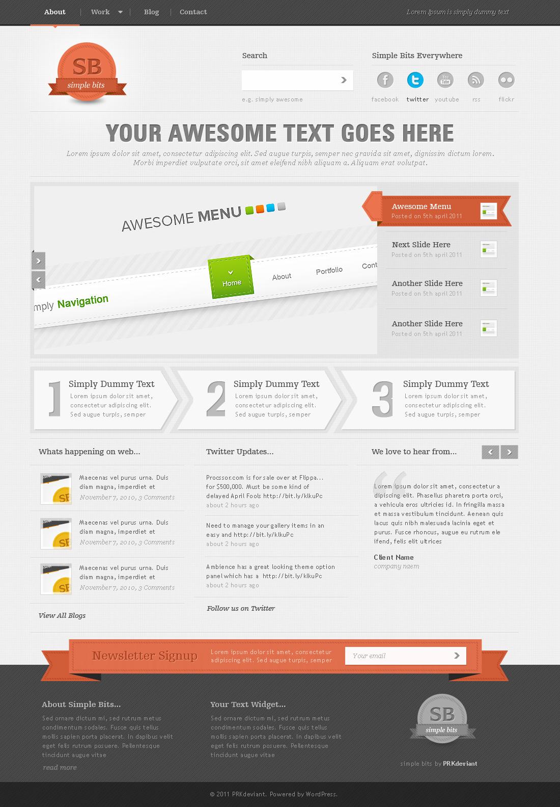 Simple Bits - simply wordpress