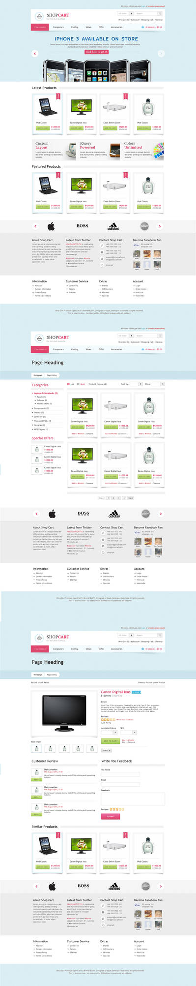 Shop Cart - Open Cart Theme