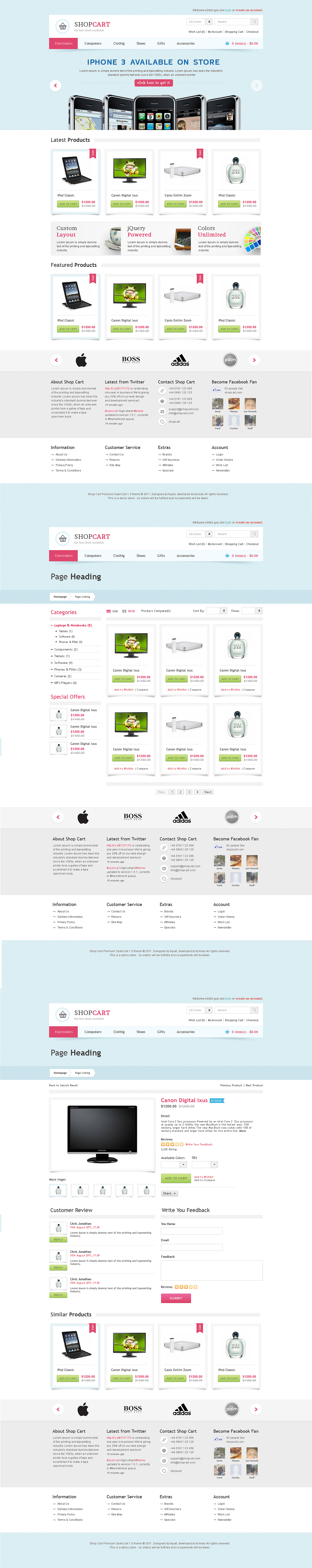 Shop Cart - Open Cart Theme by prkdeviant