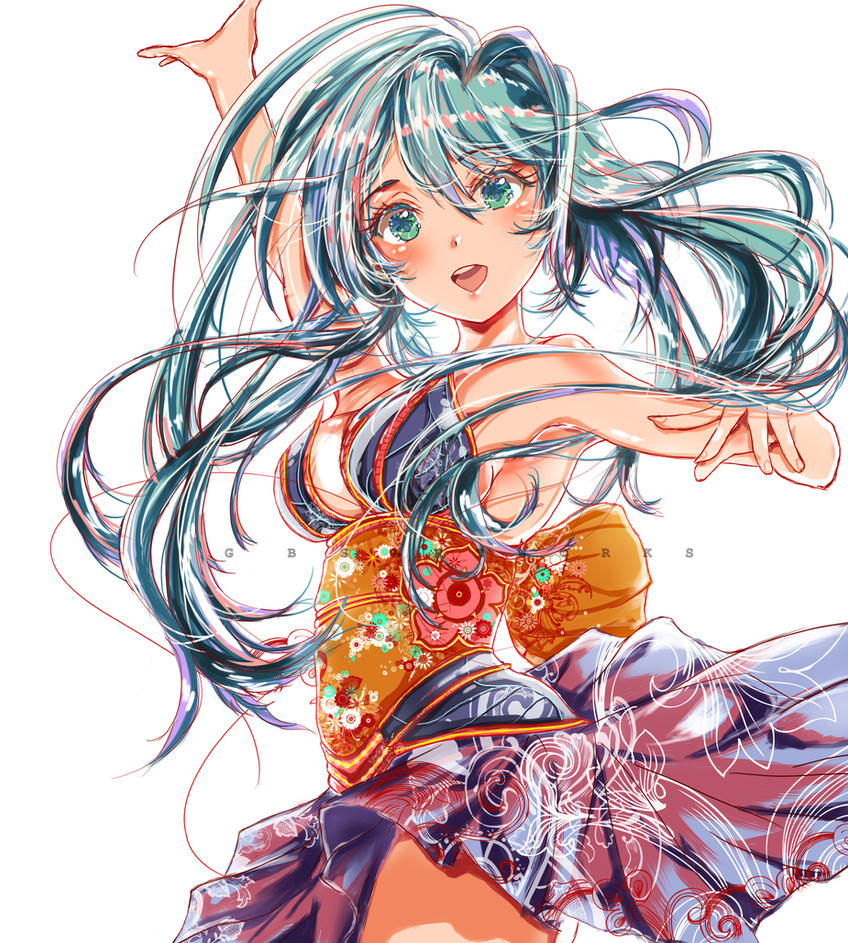 Hatsune Miku - Commission by GBSartworks