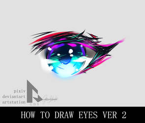 How to draw anime eyes? version 2 by GBSartworks