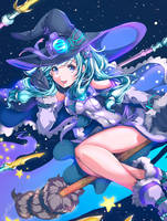 Commissioned Artwork-Enjin Witch by GBSartworks