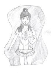 Korra wearing school uniform by dhamphir363