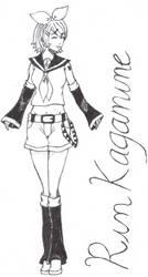 Rin Kagamine by dhamphir363