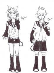 Rin and Len Kagamine.. by dhamphir363