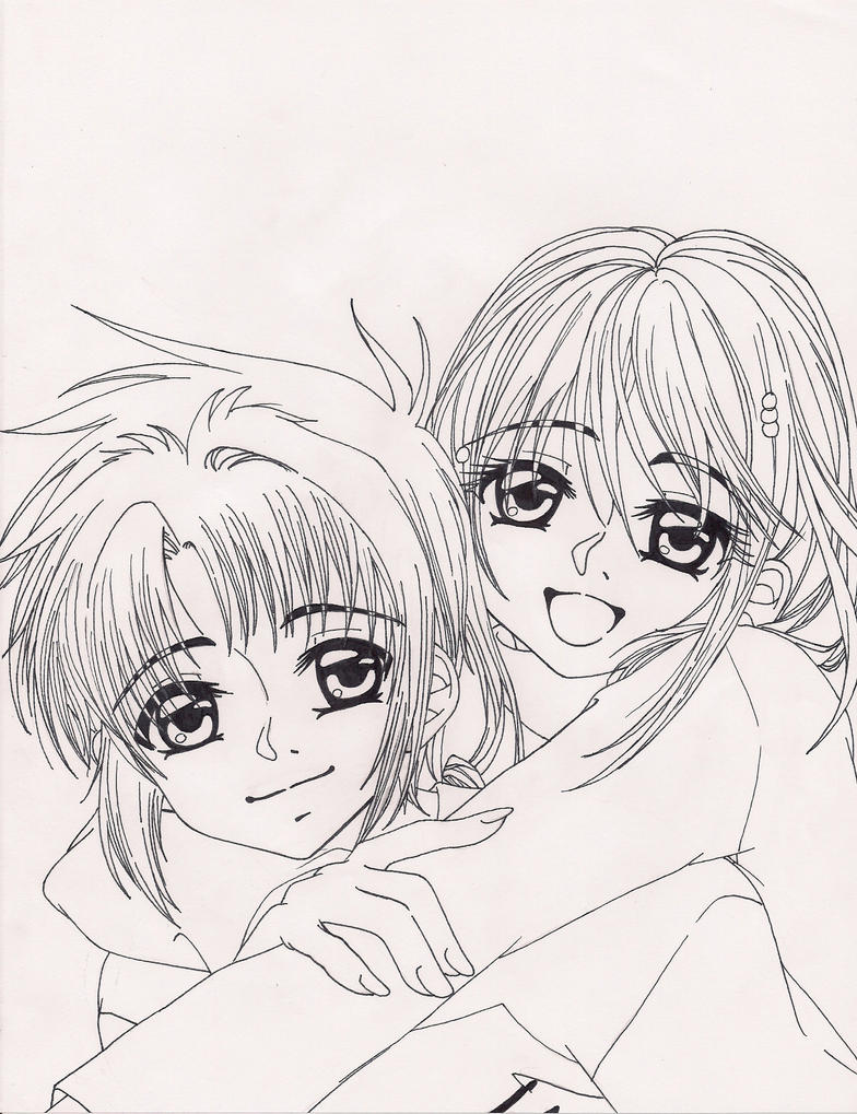 eclipse and lily lineart by koyukitorigirl on deviantart