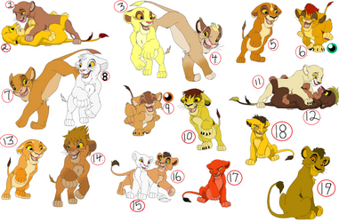 LION CUB ADOPTABLES. CLOSED