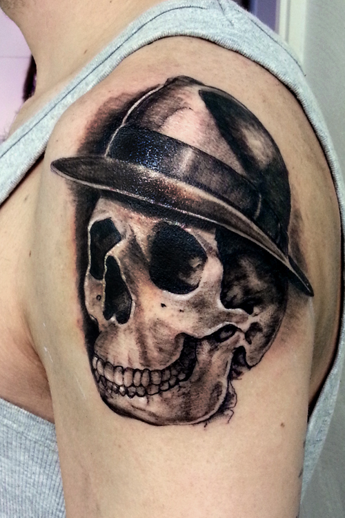 This stylish fedora is from the Josh Lord Tattoo ...  |Fedora Tattoos
