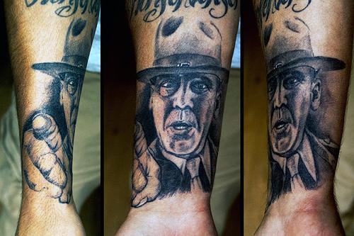 R Lee Ermey Tattoo Full metal jacket by N...