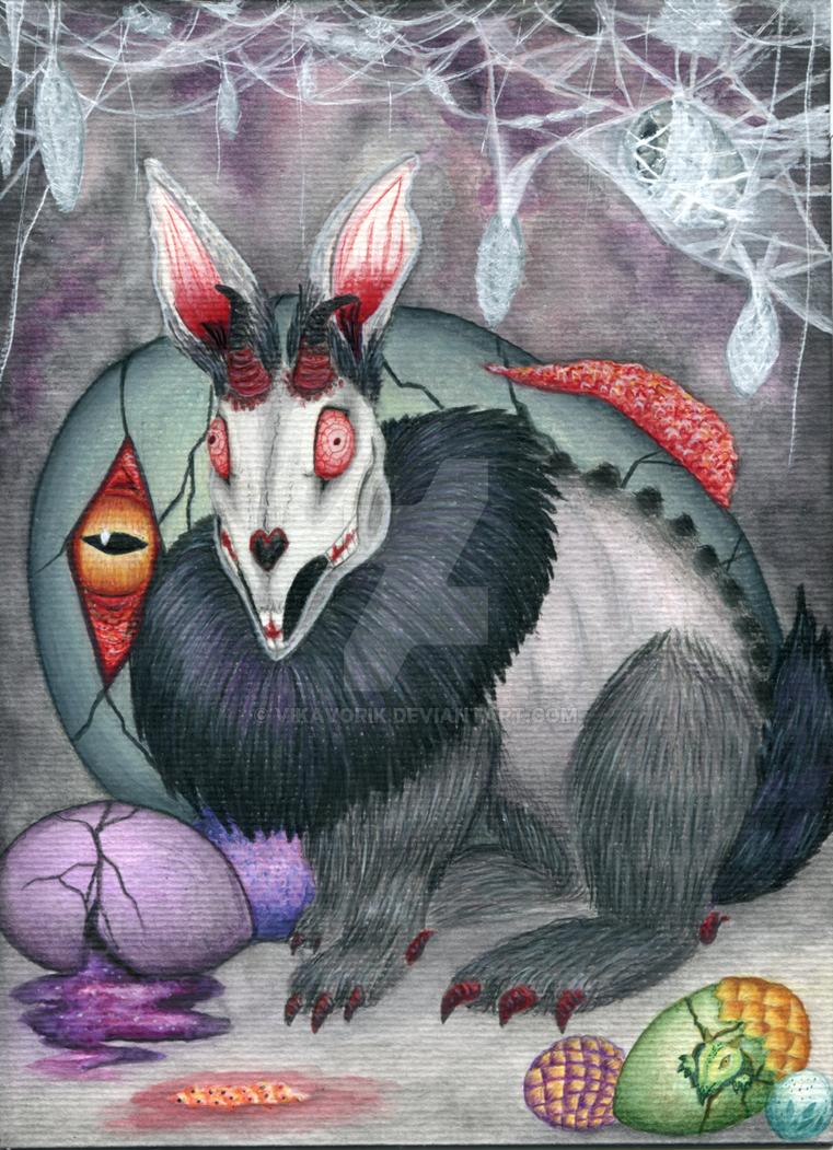 Creepy Easter Hare 2017 by VikaVorik