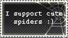 Cute spiders - stamp by CuteReaper
