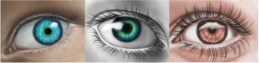 Eye Studies by CuteReaper