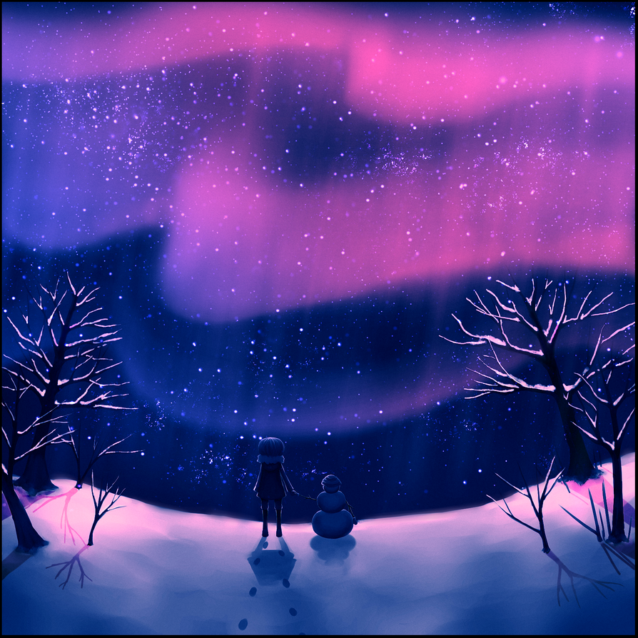 Northern lights by cutereaper on deviantart for Lights for paintings