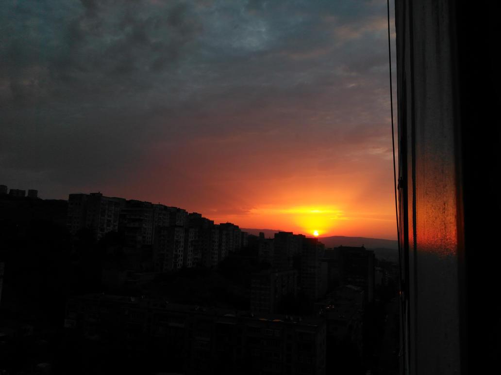 Sunrise from my window by CuteReaper