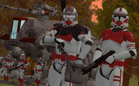 Star wars Clone troopers (sunset)