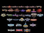 WWE All WrestleMania Logos 1-33