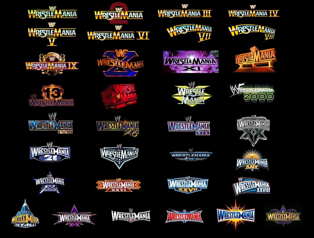 wwe wrestlemania logos 134 by alexc0bra on deviantart