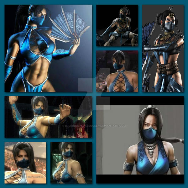 Kitana collage by BlueRosePetalsQueen