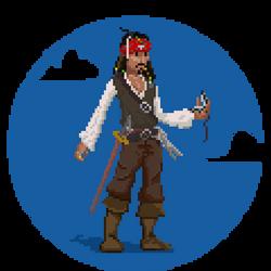15/365 challenge - Capt'n Jack Sparrow by Diggo-Kun
