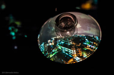 Projection Art Photography: Bird's Eye Havana View