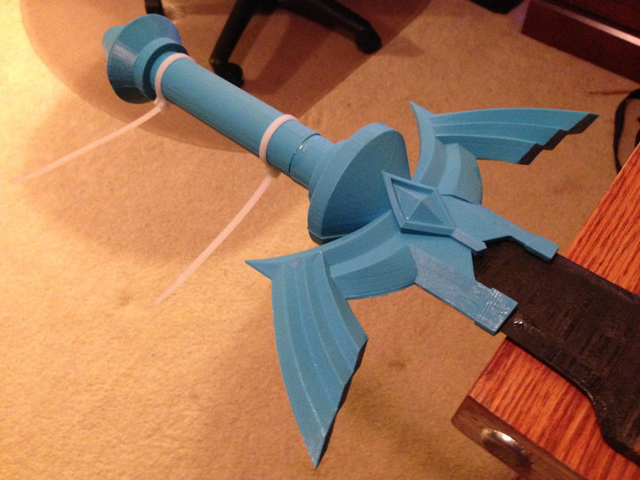 Skyward Sword Master Sword WIP by ClothBender