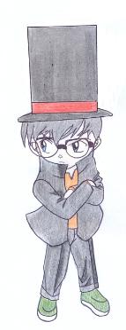 Conan Edogawa version of Professor Layton by Axiral