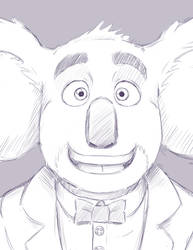 Buster Moon Sketch by Timesz