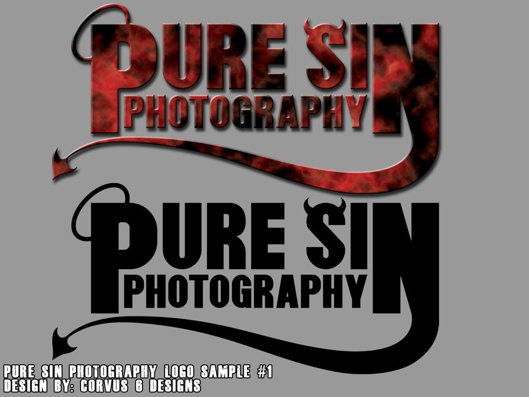Pure Sin Photography Logo by Corvus6Designs