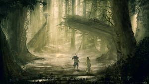 Encounter in the woods