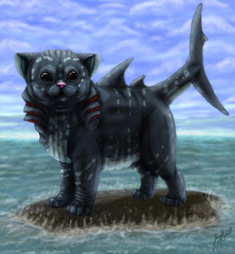 Shark Kitty by VorpalBeast