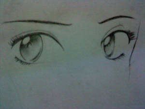 Girl anime eyes