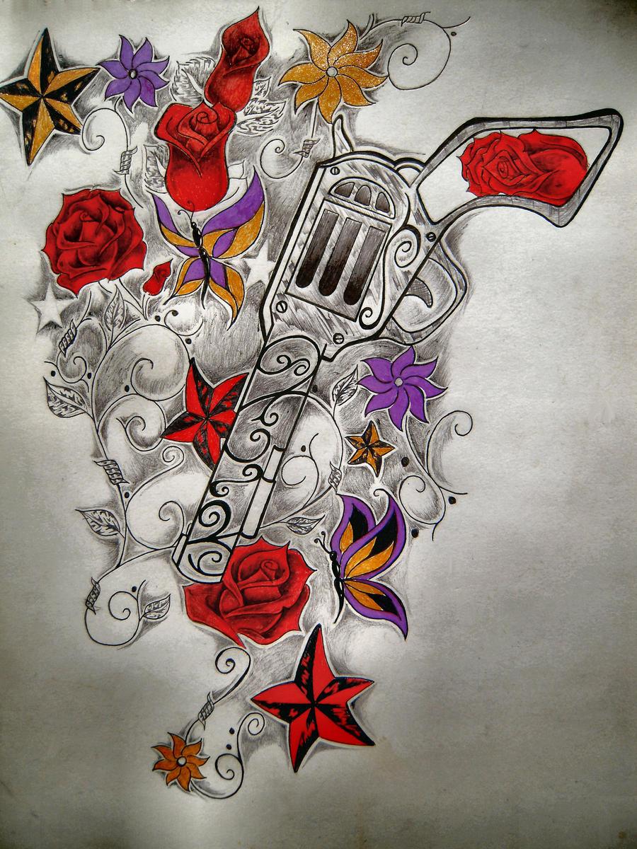 Guns n roses by at destinyz will on deviantart for Guns n roses tattoos