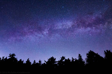 Milky Way in the sky by quetwo